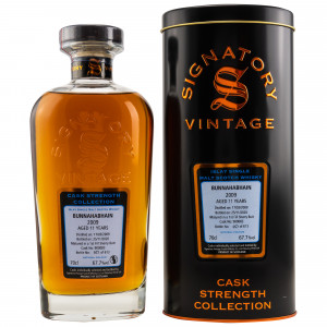 Bunnahabhain 2009/2020 - 11 Jahre Single First Fill Sherry Butt No. 900083 Cask Strength Collection (Signatory)