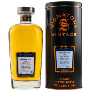 Unnamed Islay 1992/2021 - 28 Jahre Bourbon Barrel No. 6775 Cask Strength Collection (Signatory)