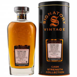 Pulteney 2008/2020 - 12 Jahre Sherry Butt Finish Cask No. 5 Cask Strength Collection (Signatory)
