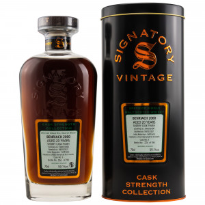 Benriach 2000/2021 - 20 Jahre Sherry Butt Finish Cask No. 3 Cask Strength Collection (Signatory)