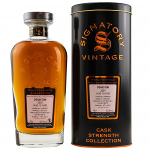 Deanston 2007/2020 - 13 Jahre 1st Fill Sherry Butt No. 900141 Cask Strength Collection (Signatory)