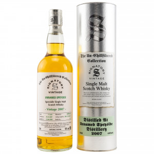 Unnamed Speyside 2007/2020 - 13 Jahre Refill Butts No. DRU17/A190 + 13 The Un-Chillfiltered Collection (Signatory)