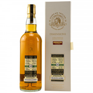 Craigellachie 2008/2021 - 12 Jahre Single Sherry Cask No. 75900399 Dimensions (Duncan Taylor)