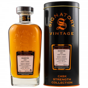 Deanston 2007/2021 - 13 Jahre Single 1st Fill Sherry Butt No. 900146 Cask Strength Collection (Signatory)