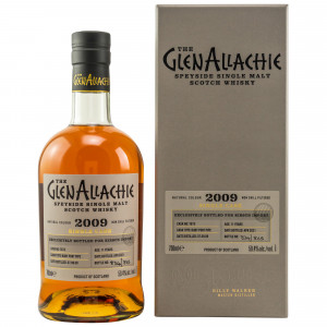 GlenAllachie 2009/2021 - 11 Jahre Ruby Port Pipe Cask No. 7673 bottled for Kirsch Import