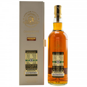 Glenrothes 2012/2021 - 9 Jahre Single Sherry Cask No. 49193 Dimensions (Duncan Taylor)