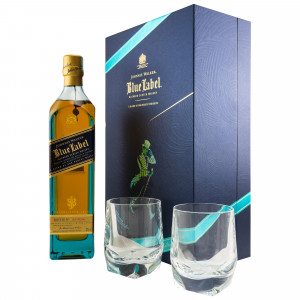 Johnnie Walker Blue Label mit 2 Gläsern - Limited Edition
