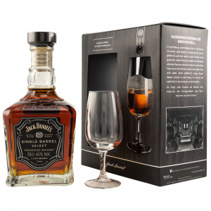 Jack Daniels Single Barrel mit Nosing Glas