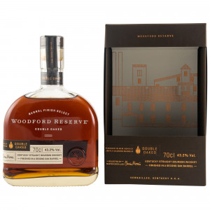 Woodford Reserve Double Oaked - Dekanterflasche (USA: Bourbon) (mit Geschenkverpackung)