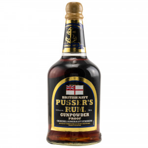 Pussers British Navy Rum Gunpowder Proof Black Label