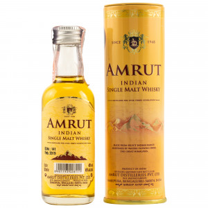 Amrut Indian Single Malt (Miniatur) (Neue Ausstattung)