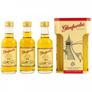 Glenfarclas Collection 3 x 0,05 15 Jahre / 21 Jahre / 25 Jahre