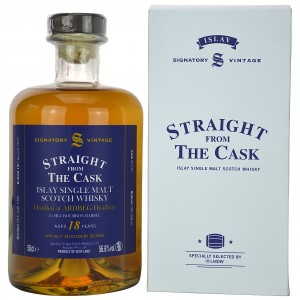Ardbeg 18 Jahre First Fill Bourbon Barrel (Signatory Vintage Straight From The Cask)