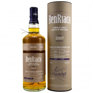 Benriach 2007/2018 Single Cask No. 3071 10 Jahre First Fill Oloroso Sherry Cask Peated