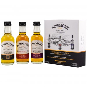 Bowmore Collection 12, 15, 18 Jahre (Miniaturenset)