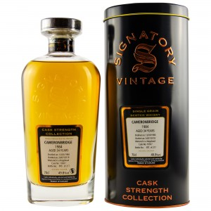 Cameronbridge Single Grain 1984/2018 Cask No. 19307 (Hogshead) (Signatory Cask Strength)