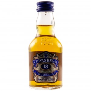 Chivas Regal 18 Jahre Gold Signature (Miniatur)