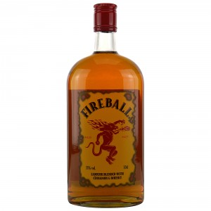 Fireball Liquer blended with Cinnamon and Whisky