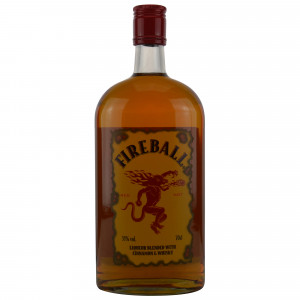 Fireball Liqueur blended with Cinnamon and Whisky