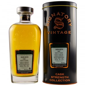 Glen Keith 1991/2018 - Casks No. 73652+73655 (Bourbon Barrels) (Signatory Cask Strength)