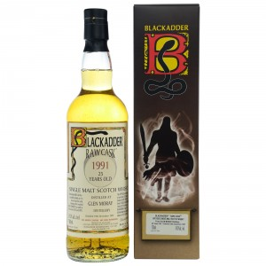 Glen Moray 1991/2017 25 Jahre Cask 9414 (Blackadder Raw Cask)