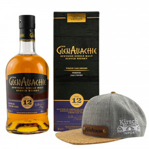 GlenAllachie 12 Jahre French Virgin Oak (Virgin Oak Series) + Rubde Cap