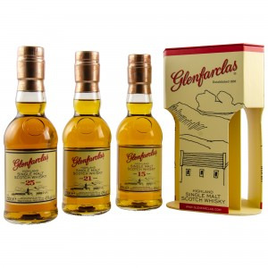 Glenfarclas Tripack Collection 15 Jahre, 21 Jahre, 25 Jahre (3x 200ml)