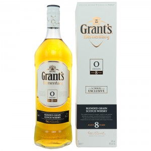 Grant's 8 Jahre Elementary Oxygen Blended Grain Scotch Whisky - Liter