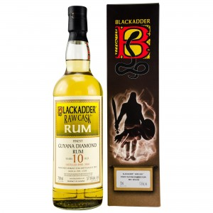 Guyana Diamond 2008/2018 10 Jahre (Blackadder Raw Cask) (Rum)