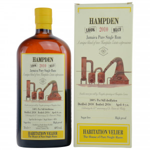 Hampden 2010/2016 Jamaica Pure Single Rum LMDW Exclusive (Habitation Velier)