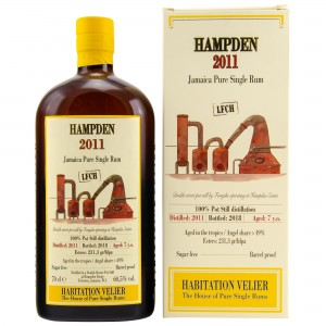 Hampden 2011/2018 Jamaica Pure Single Rum LFCH (Habitation Velier)