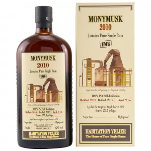 Monymusk 2010/2019 9 Jahre Jamaica Pure Single Rum EMB (Habitation Velier)