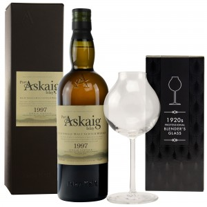 Port Askaig 1997/2017 Single Vintage im Set mit 1920s Professional Blenders Glass