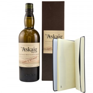 Port Askaig 100 Proof im Set mit Port Askaig Notizbuch