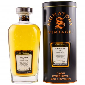 Port Dundas 1996/2019 22 Jahre Single Cask No. 128333 (Signatory Cask Strength Collection)