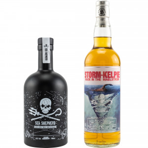 Sea Shepherd Whisky Set - Sea Shepherd Islay Single Malt & Bunnahabhain Staoisha Storm-Kelpie