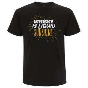 Whisky is liquid sunshine T-Shirt (Schwarz)