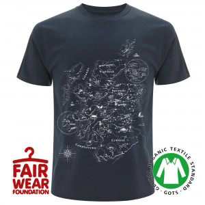 Connoisseurs Cut Distilleries of Scotland T-Shirt (Navy Blau)