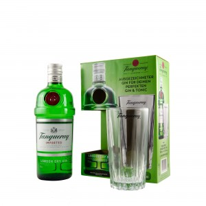 Tanqueray London Dry Gin + Glas