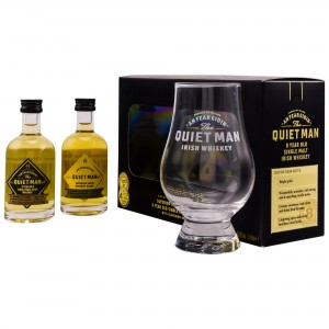 The Quiet Man 8 Jahre und The Quiet Man Traditional Irish Whiskey (2x50ml) (Miniaturenset mit Glas)