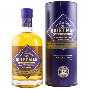 "The Quiet Man ""An Culchiste"" 12 Jahre Irish Single Malt Whiskey mit Tube (Irland)"