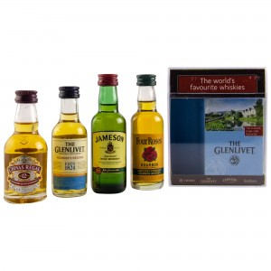 The Worlds Favourite Whiskies Collection (Chivas 12 Jahre / Glenlivet Founders Reserve / Four Roses / Jameson)