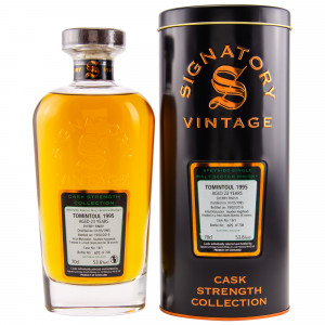 Tomintoul 1995/2019 - Cask No. 16/1 (Bourbon Hogshead) Sherry Finish (Signatory Cask Strength)