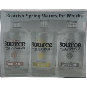 Uisge Source Scottish Spring Waters for Whisky Set (Highland, Islay, Speyside je 95ml)  (Wasser)