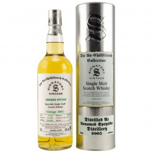 Unnamed Speyside Distillery 2005/2018 12 Jahre Cask No. DRU 17/A10661+62 (Signatory Un-chillfiltered)