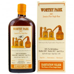 Worthy Park 10 Jahre 2007/2017 Jamaica Pure Single Rum WPL (Habitation Velier)