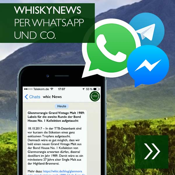 WhiskyNews per WhatsApp und Co.